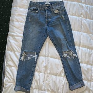 Forever 21 Cropped Boyfriend Jeans